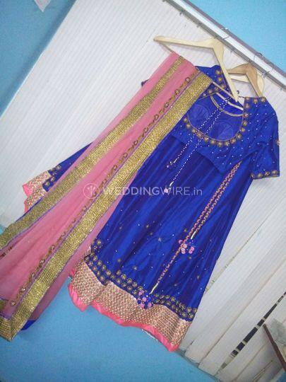 Silk half saree dress