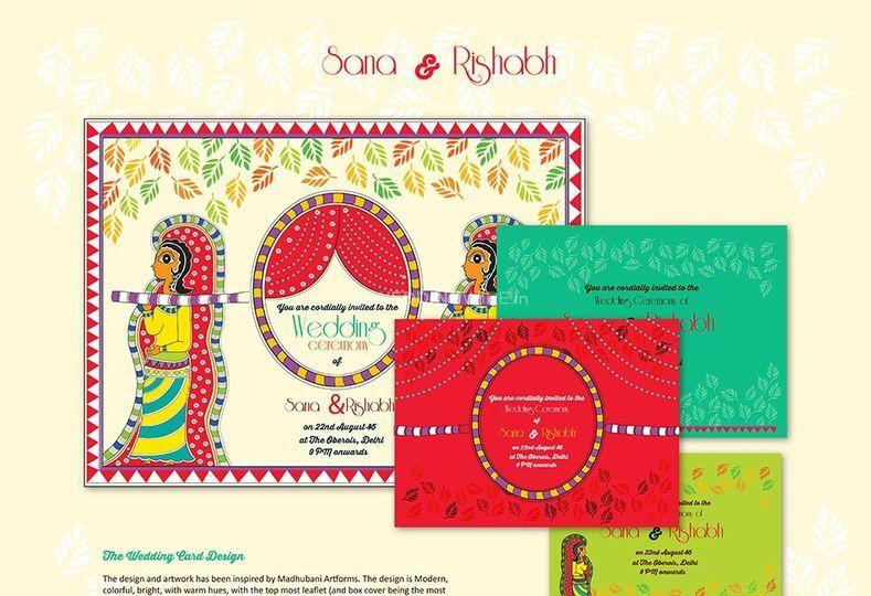 Wedding card design sample
