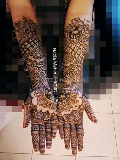 Non figured bridal Mehendi