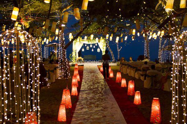 Beach wedding stage