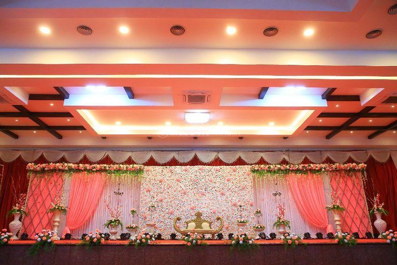 Reception stage decor