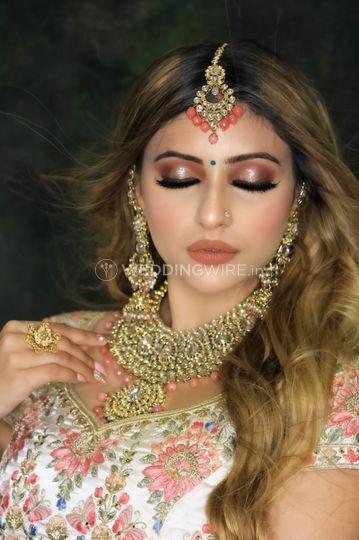 Day wedding air brush makeup