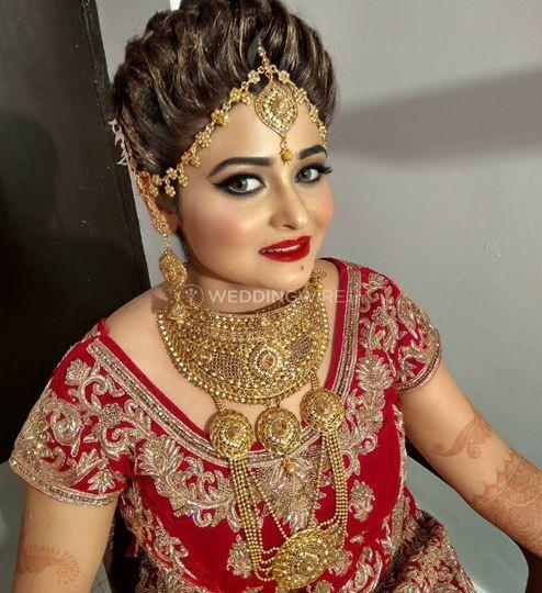 bridal makeup from bridal makeup by kajal sharma photo 4