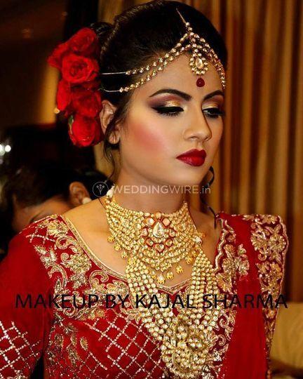 bridal makeup by kajal sharma