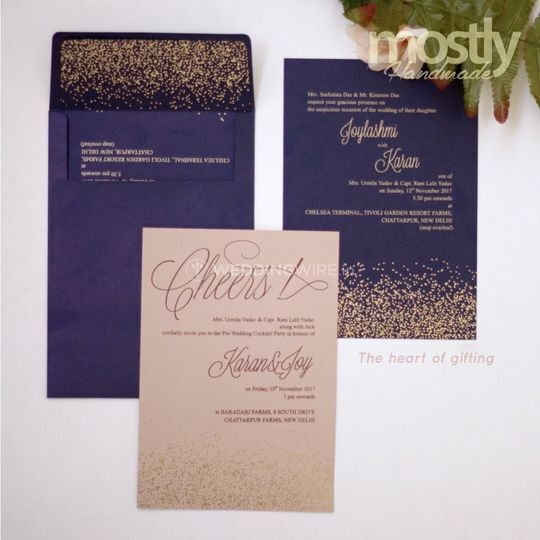 Foil printed wedding invites