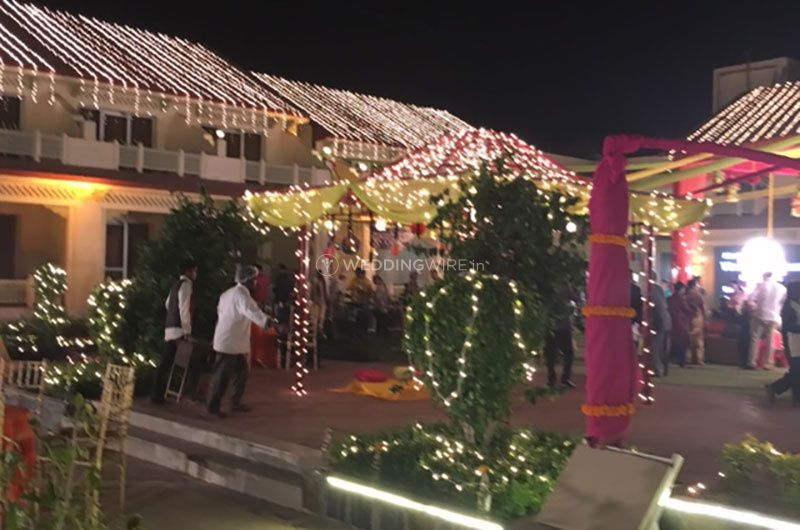 View of decorated lawns