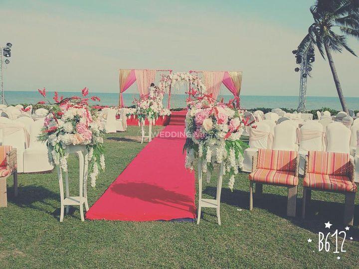Wedding setup at Thailand