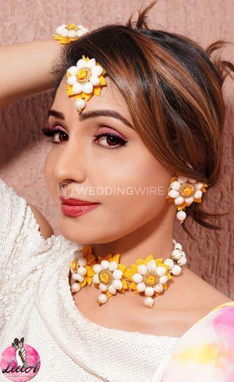Haldi look Bridal Makeover