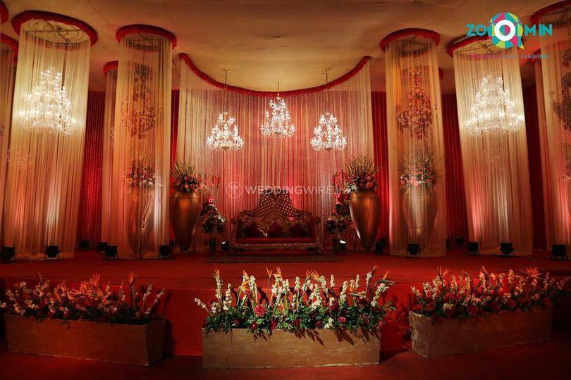 Reception stage decoration