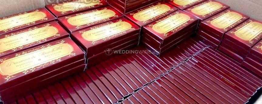 Wedding chocolate invite