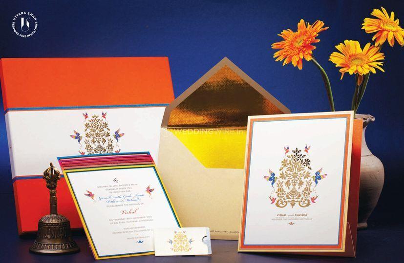 Gold foil on card