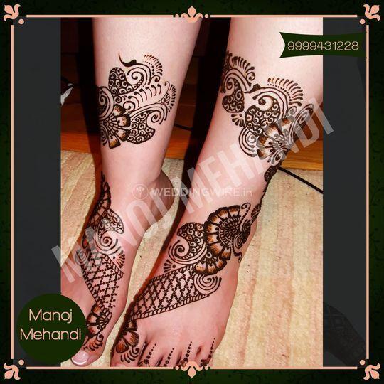 Arabic Mehndi Design for Foot