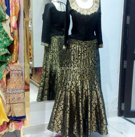 Designer Suit From Maharani Designer Boutique Photos