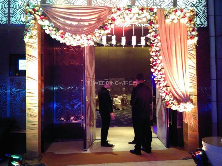 Radiant flower and theme decorator entry gate entry gate junglespirit Choice Image