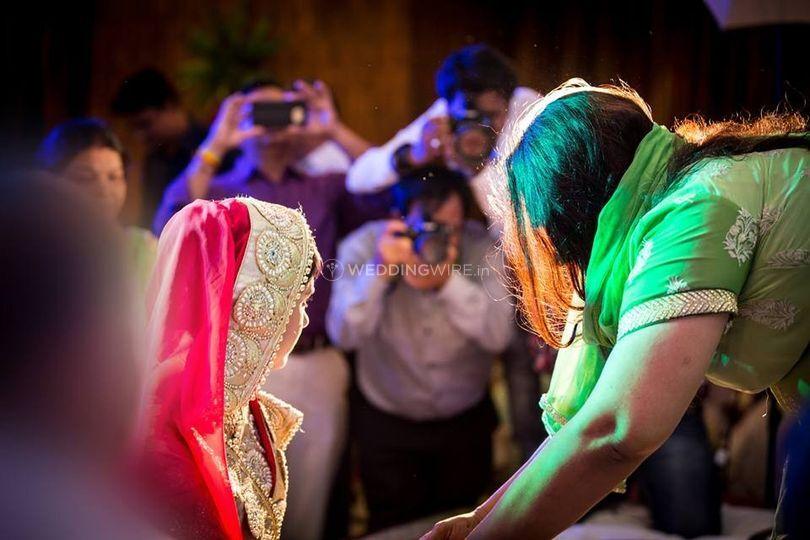Bride shot