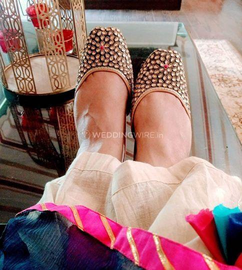 Bridal Lehenga - Haute Steppers - footwear  (33)