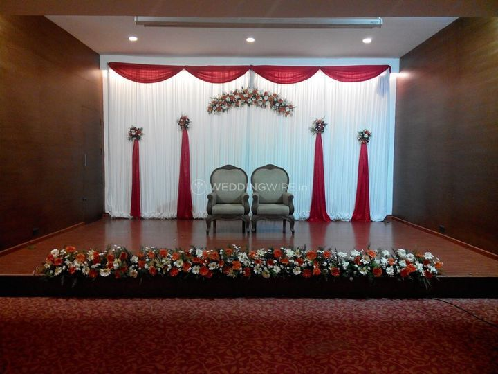Floral stage decor