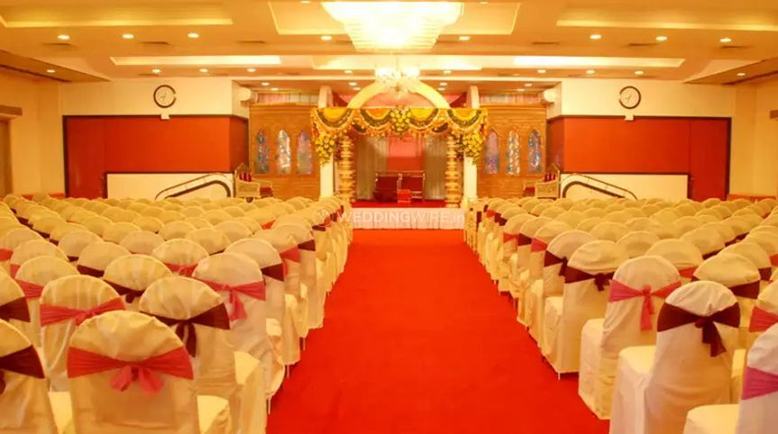 Banquet hall of Hotel Bharani Residency