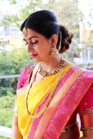 Beena's traditional makeup