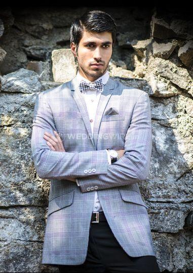 Grey glen check jacket
