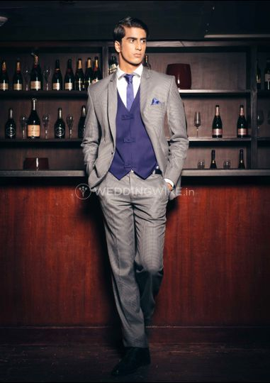 Three piece worsted wool suit
