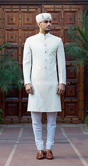 Couture white bandhgala