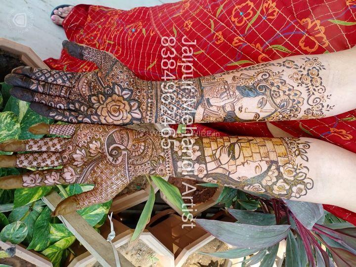 Bridal mehendi with radha