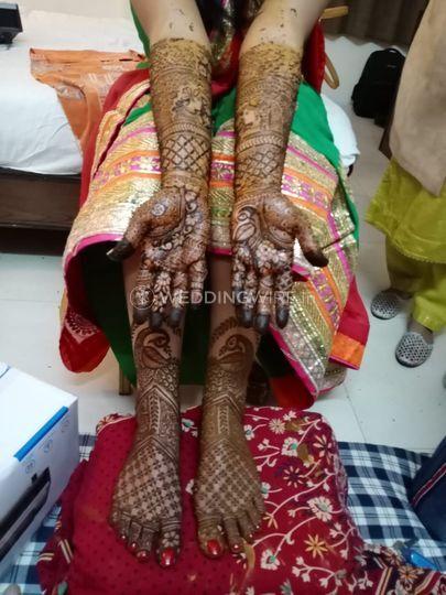 Bridal mehndi hands foot