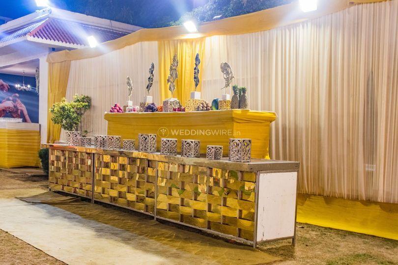 Wedding venue-Food setup