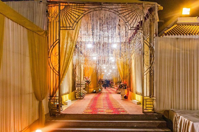 Wedding venue-Entrance decor