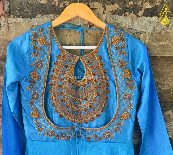 Blue anarkali