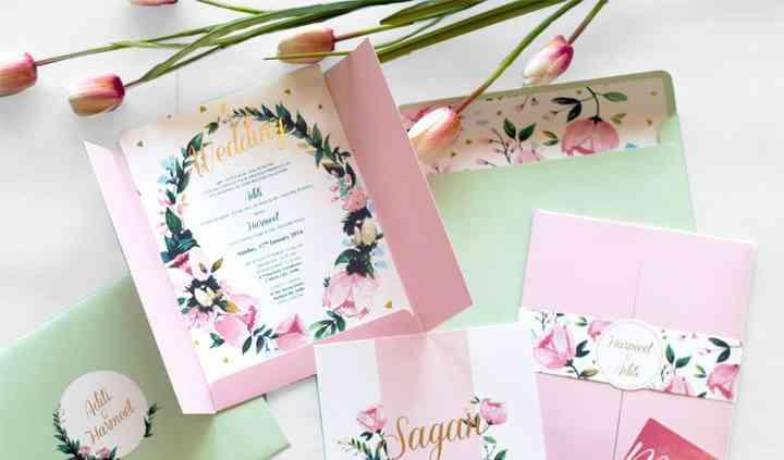 The Floral Vintage invite