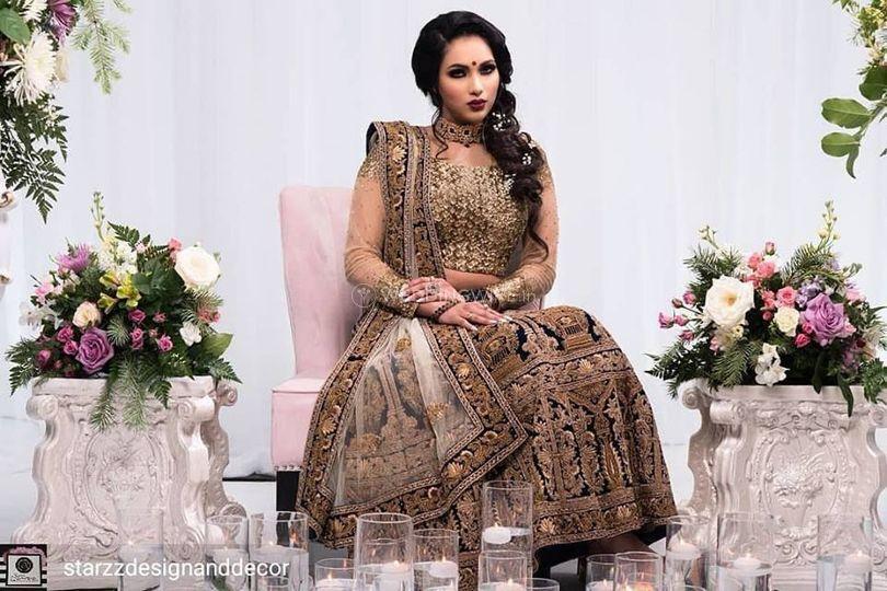 Understated yet Intense Bridal Look