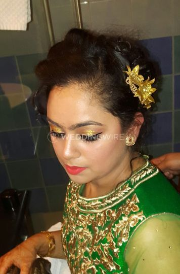 Bridal makeup and styling