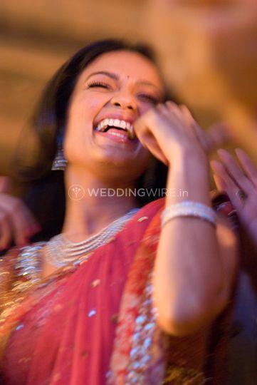 Bride dancing sangeet