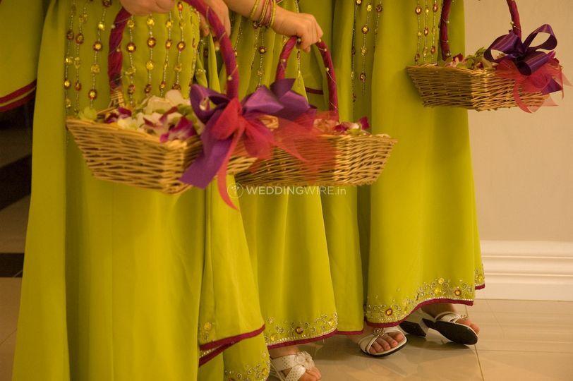 Wedding children flowers