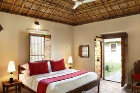 Sandy Palm Tree And Resort
