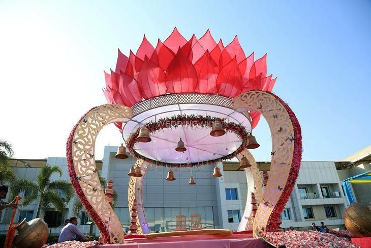 Mandap at poolside