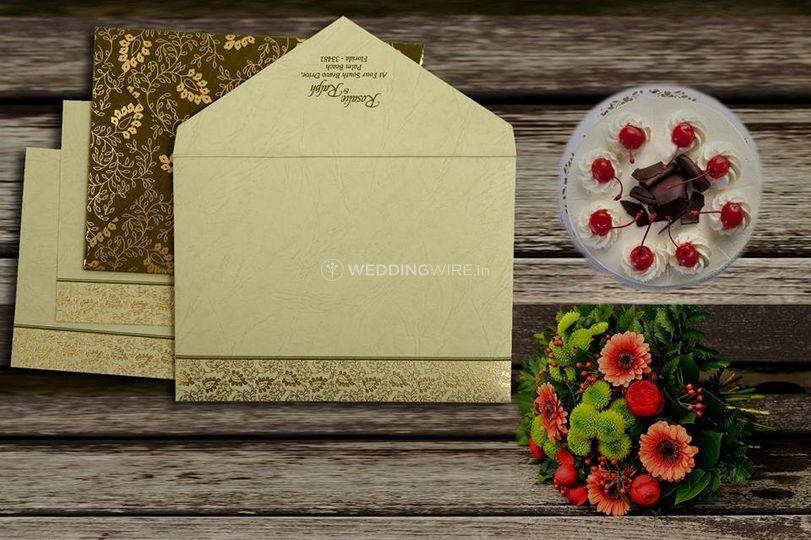 Paisley Theme Wedding invite