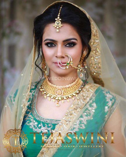 Muslim bridal look. Tejaswini Makeup Artist