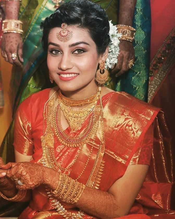 South Indian bridal makeup from Tejaswini Makeup Artist
