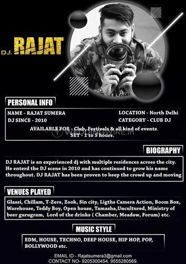 DJ Rajat Profile