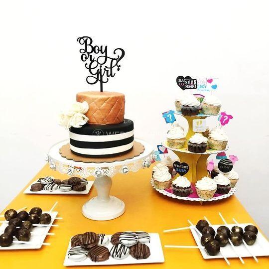 Baby Shower Cake- Dessert Tabl