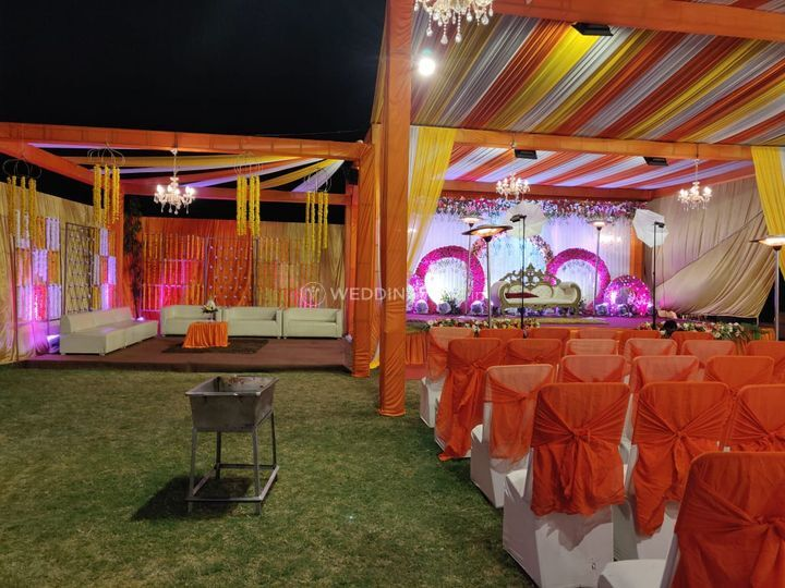 Wedding setup and decor