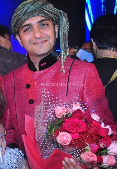 Anchor Mannan Thakral after an event