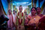 The groom arrives
