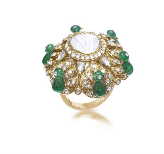 Wedding grand uncut ring
