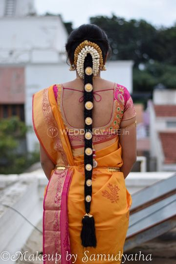 South Indian Braid Style From Samudyatha Hair And Makeup