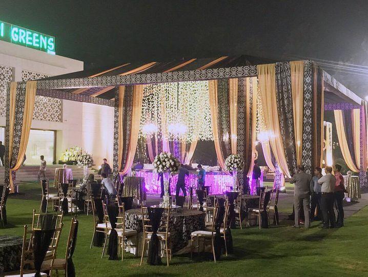 Wedding decor and setup