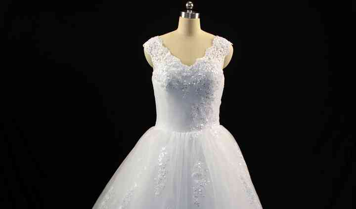 Ballgown with presequinedlace